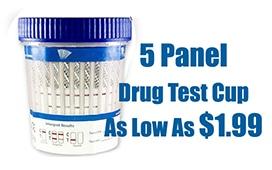 5 Panel Drug test cup