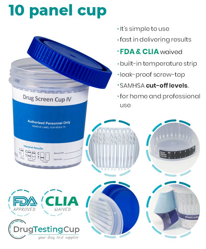Drug testing kit 10 Panel Drug Test 10 panel drug test cup