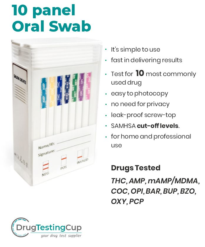 Mouth Swab Drug Test - 10 Panel Drug Test