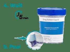 3.Wait Drug Test Cup - Instructions