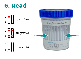 4.Read Drug Test Cup - Instructions